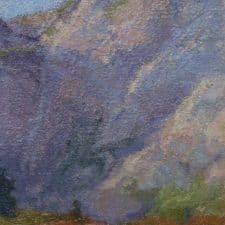 "American Legacy Fine Arts presents ""On High Places; Eastern Sierra's"" a painting by Amy Sidrane."