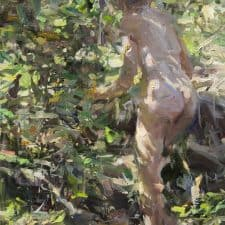 "American Legacy Fine Arts presents ""Forest Path"" a painting by Quang Ho."