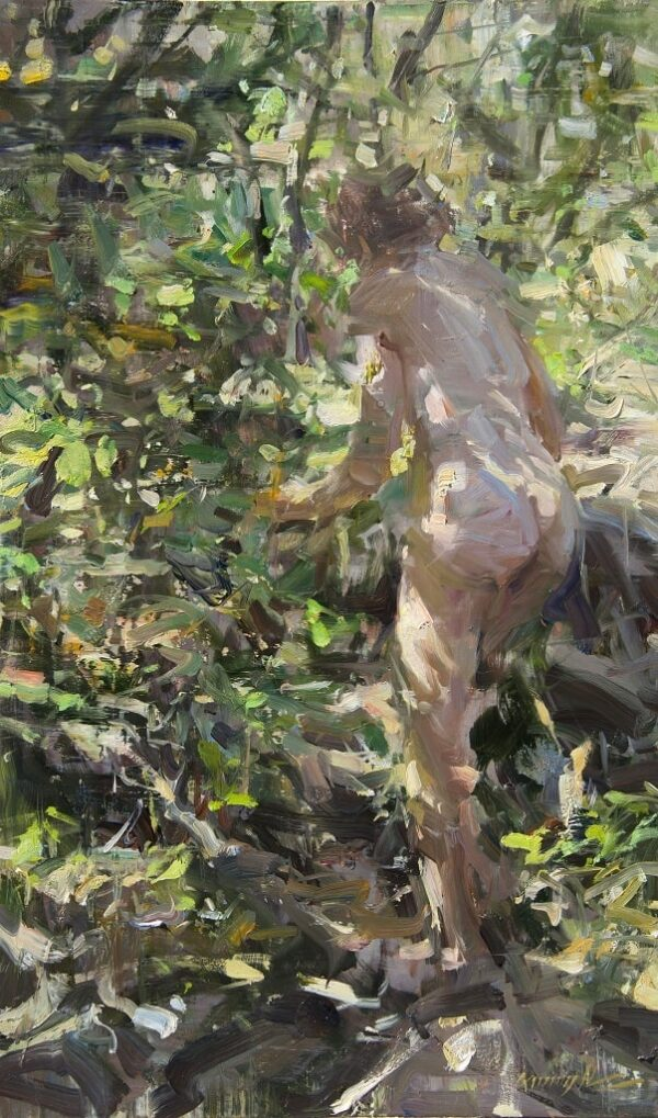 """American Legacy Fine Arts presents """"Forest Path"""" a painting by Quang Ho."""
