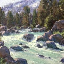 "American Legacy Fine Arts presents "" Spring Runoff"" a painting by Jean LeGassick."