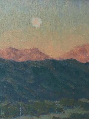 """American Legacy Fine Arts presents """"Moon's Morning Slumber"""" a painting by Jennifer Moses."""
