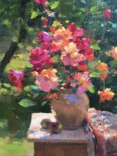 "American Legacy Fine Arts presents ""Summer Roses and Apples"" a painting by Jim McVicker."