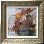 "American Legacy Fine Arts presents ""In Santa Barbara Harbor"" a painting by Jove Wang."