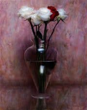 "American Legacy Fine Arts presents ""Bohemian Roses"" a painting by Kate Sammons."