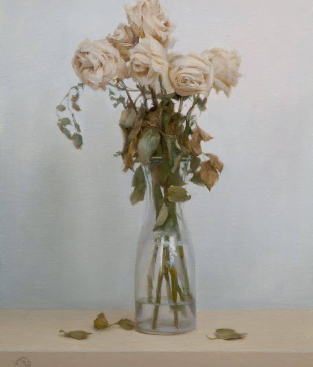 American Legacy Fine Arts Presents Dead Roses A Painting By Kate