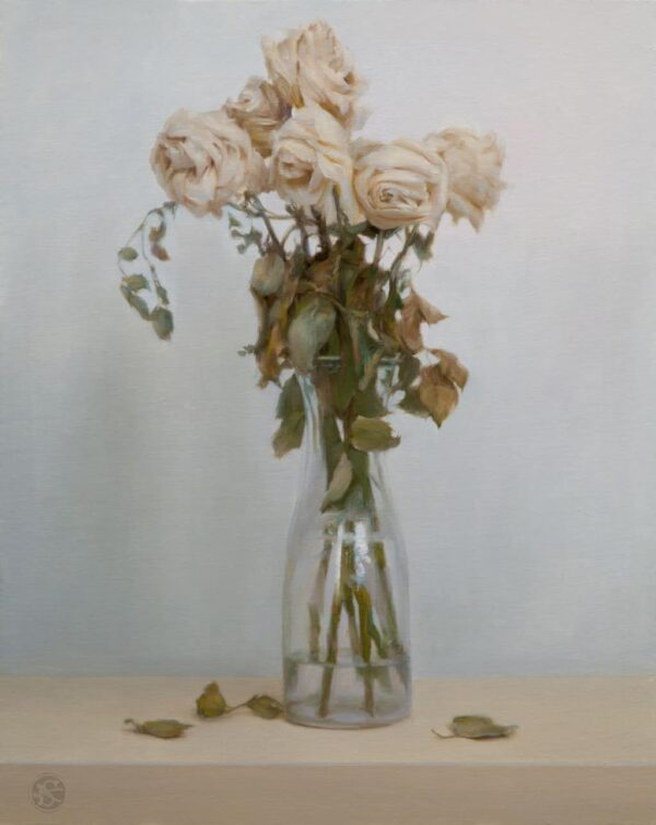 "American Legacy Fine Arts presents ""Dead Roses"" a painting by Kate Sammons."