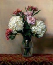 "American Legacy Fine Arts presents ""Hydrangeas"" a painting by Kate Sammons."