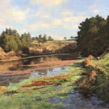 "American Legacy Fine Arts presents ""Lake Loleta Morning"" a painting by Jim McVicker."