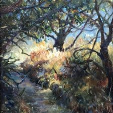 "American Legacy Fine Arts presents ""Forgotten Realms; Topanga Park"" a painting by Nikita Budkov."