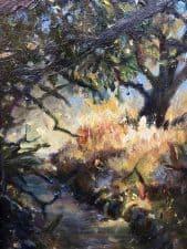 "American Legacy Fine Arts presents ""Forgotten Realms; Topanga Park"" a painting by Nikita Budkov."