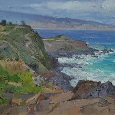 "American Legacy Fine Arts presents ""Hawaii Coastline"" a painting by Mian Situ."