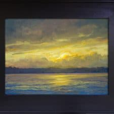 "American Legacy Fine Arts presents ""Lake Washington Two"" a painting by Tony Peters."