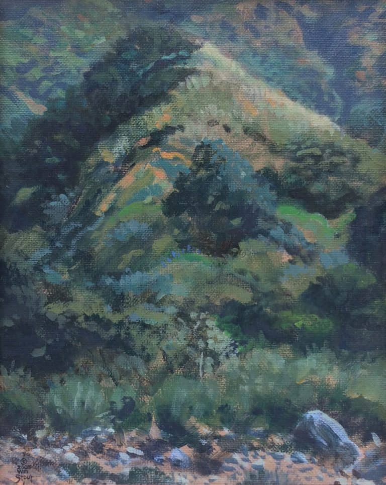 "American Legacy Fine Arts presents ""Eaton Canyon Mount"" a painting by William Stout."