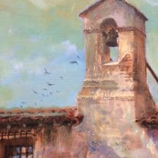 """American Legacy Fine Arts presents """"Mission San Juan Capistrano"""" a painting by William Stout."""