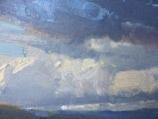 """American Legacy Fine Arts presents """"Scattered Showers"""" a painting by Bill Anton."""
