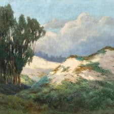 "American Legacy Fine Arts presents ""Sand Dunes and Eucalyptus Trees"" a painting by Christian A. Jorgensen"