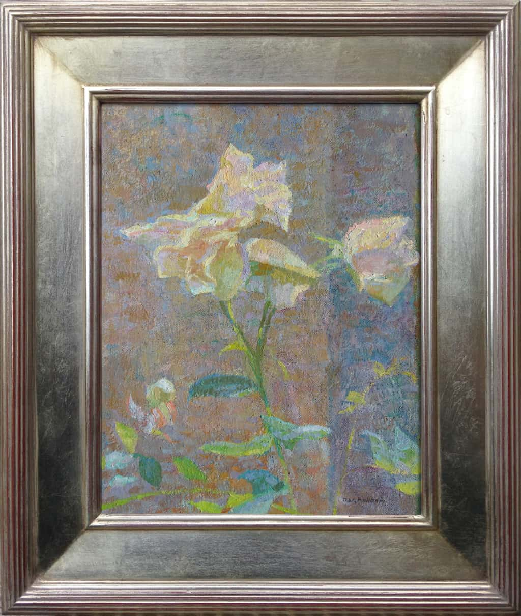 "American Legacy Fine Arts presents 'Sunlight Shimmer'"" a painting by Daniel W. Pinkham."