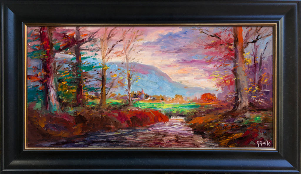 "American Legacy Fine Arts presents ""The Kingdom; Upstate New York, Adirondacks"" a painting by George Gallo."