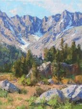"American Legacy Fine Arts presents "" A Day in Faith Valley"" a painting by Jean LeGassick."