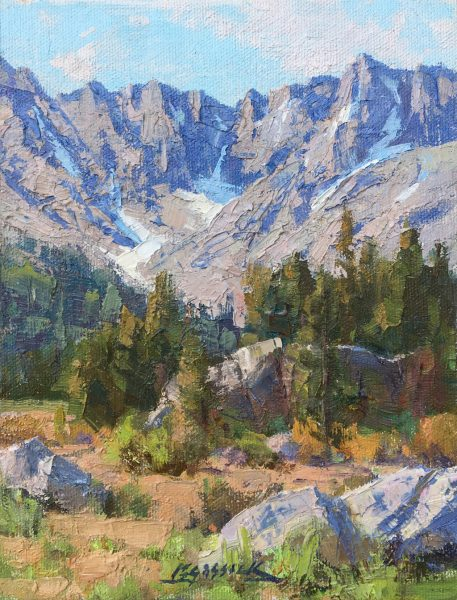 """American Legacy Fine Arts presents """" A Day in Faith Valley"""" a painting by Jean LeGassick."""
