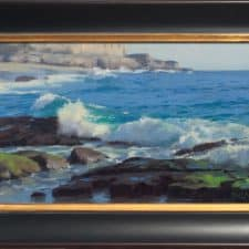 "American Legacy Fine Arts presents ""Breaking Water; Laguna"" a painting by John Cosby."