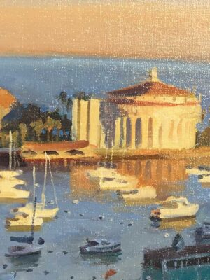 """American Legacy Fine Arts presents """"Mornings Glow"""" a painting by John Cosby."""