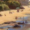 "American Legacy Fine Arts presents ""View from B-1; Laguna"" a painting by John Cosby."