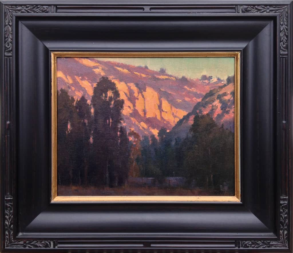 "American Legacy Fine Arts presents ""Canyon Glow"" a painting by Michael Obermeyer."