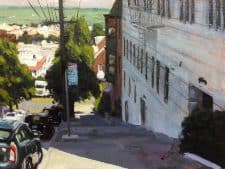 "American Legacy Fine Arts presents Buchanan Street View"" a painting by Scott W. Prior."