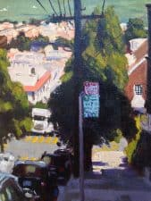 "American Legacy Fine Arts presents ""Buchanan Street View"" a painting by Scott W. Prior."
