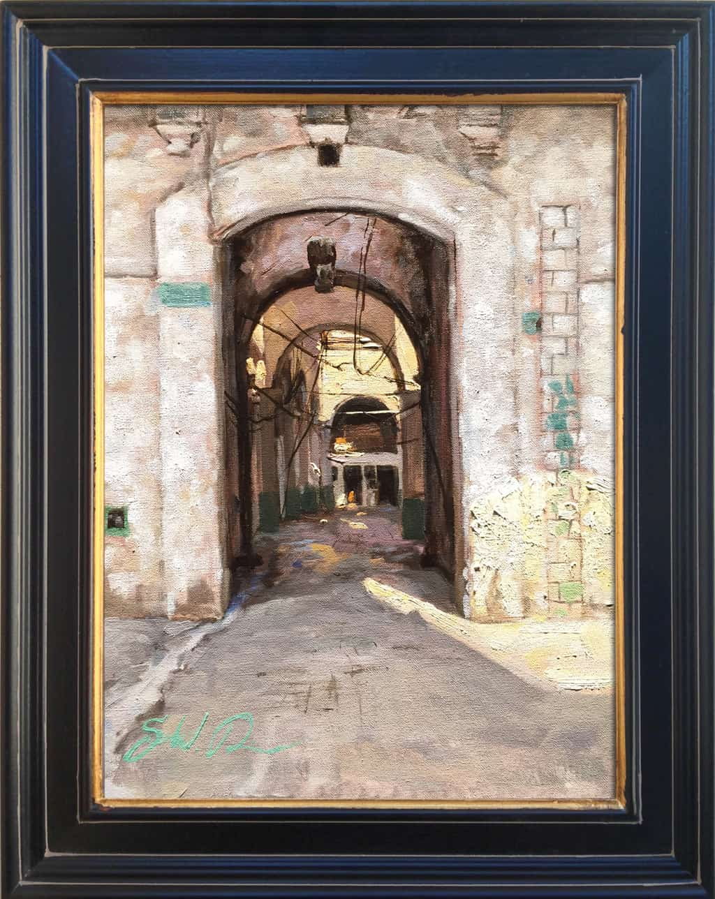 """American Legacy Fine Arts presents"""" Old Havana"""" a painting by Scott W. Prior."""