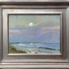 "American Legacy Fine Arts presents ""Moonrise, Cabrillo Beach"" a painting by Stephen Mirich."