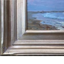 """American Legacy Fine Arts presents """"Moonrise, Cabrillo Beach"""" a painting by Stephen Mirich."""