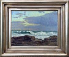 """American Legacy Fine Arts presents """"Weather Front, Point Fermin"""" a painting by Stephen Mirich."""