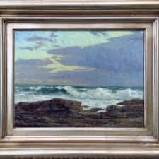 "American Legacy Fine Arts presents ""Weather Front, Point Fermin"" a painting by Stephen Mirich."
