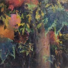 "American Legacy Fine Arts presents ""Spirit of Abundance; Pomegranates and Abutilon"" a painting by Christopher L. Cook."