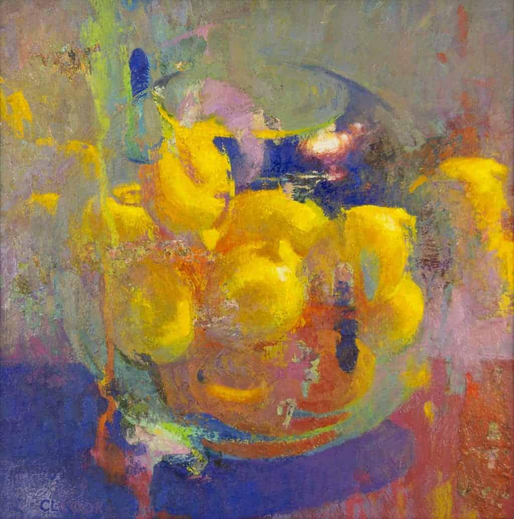 Lemon Hearth Bowl Impressionism Lemons Painting Oil