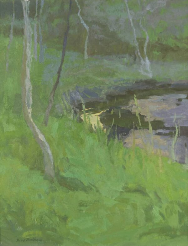 "American Legacy Fine Arts presents ""Dusk"" a painting by Daniel W. Pinkham."