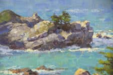 """American Legacy Fine Arts presents """"Big Sur Cove"""" a painting by Jim McVicker."""