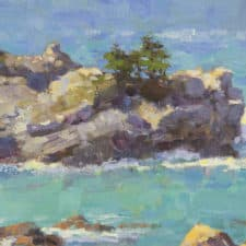 "American Legacy Fine Arts presents ""Big Sur Cove"" a painting by Jim McVicker."