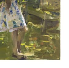 """American Legacy Fine Arts presents """"Kat in the Garden"""" a painting by Quang Ho."""