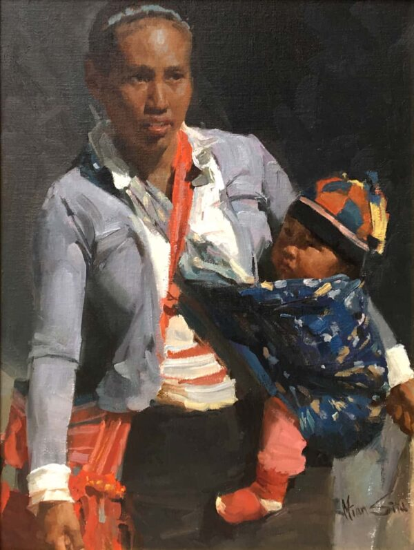 "American Legacy Fine Arts presents ""Market Bundles"" a painting by Mian Situ."
