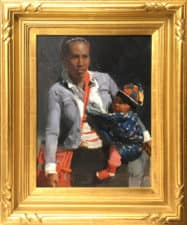 "American Legacy Fine Arts presents ""Market Bundles"" a painting by Mian Situ."