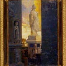 """American Legacy Fine Arts presents """"Il Passaggio; Sant'Andrea della Vale, Rome"""" a painting by Peter Adams."""
