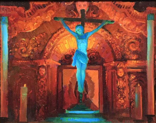 "American Legacy Fine Arts presents ""Crucifix and Retablo at Serra Ch"