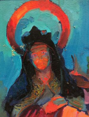 """American Legacy Fine Arts presents """"St.Theresa in the Serra Chapel"""" a painting by Peter Adams."""