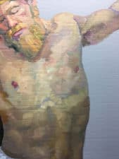 """American Legacy Fine Arts presents """"Life-Size Study for the Crucifix"""" a painting by Peter Adams."""