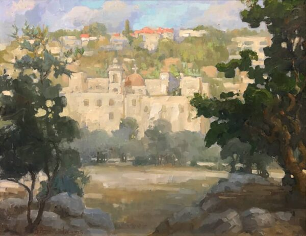 "American Legacy Fine Arts presents "" Monastery of the Holy Cross"" a painting by Peter Adams."
