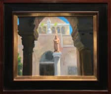 "American Legacy Fine Arts presents ""St. Jerome & St. Catherine of Alexandria, Church of St. Catherine, Bethlehem"" a painting by Peter Adams."