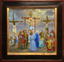 "American Legacy Fine Arts presents ""Study for the 12th Station; The Crucifixion Scene"" a painting by Peter Adams."